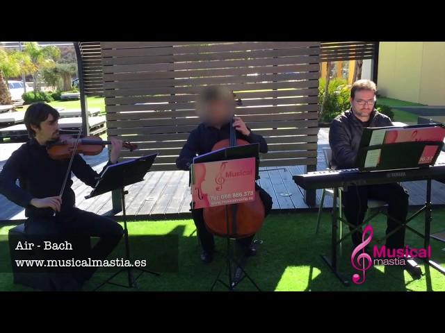 Air Bach TRIO piano violin y violonchelo - MUSICA BODAS ALMERIA TURRE ANTAS MOJACAR