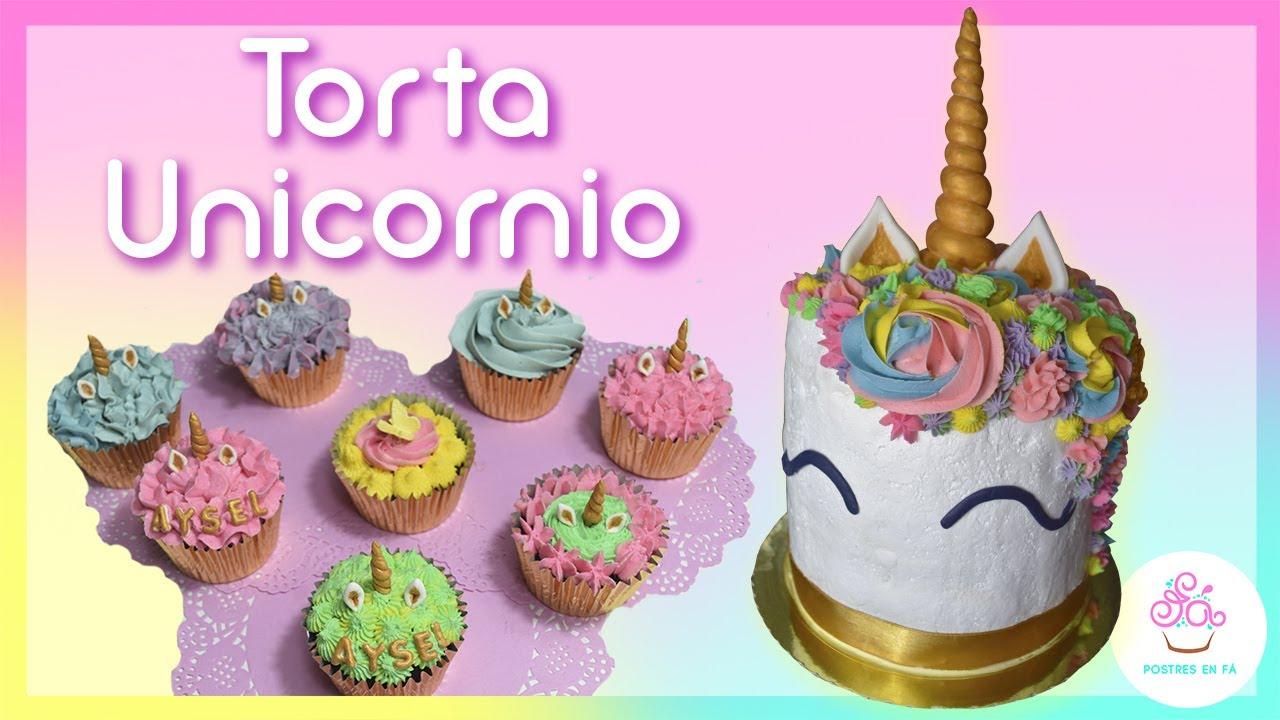 Torta Unicornio ✿ Postres en Fa ✿ 1er ANIVERSARIO