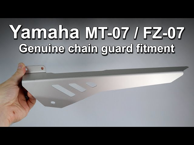 Yamaha MT-07 Genuine Chain Guard First Look & Install