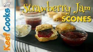 Homemade Strawberry Jam | Homemade Scones | Devon/Cornwall Cream Tea