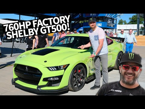 Most Powerful Street-legal Ford EVER! 760hp Ford Mustang Shelby GT500 Shredding w/Vaughn Gittin Jr.