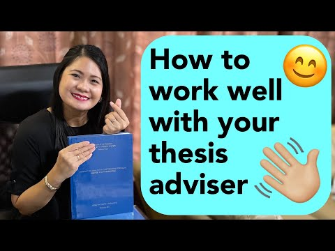 Research: How to work well with your thesis adviser