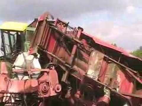 Scrap Operation On Farm Machinery Salvage Yard