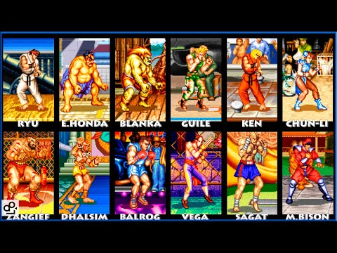 Street Fighter Ii Turbo Hyper Fighting All Characters Super Nintendo Super Nes 1080p 60fps Youtube