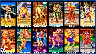 Street Fighter II TURBO Hyper Fighting ALL CHARACTERS   SUPER NINTENDO - SUPER NES   1080p 60fps