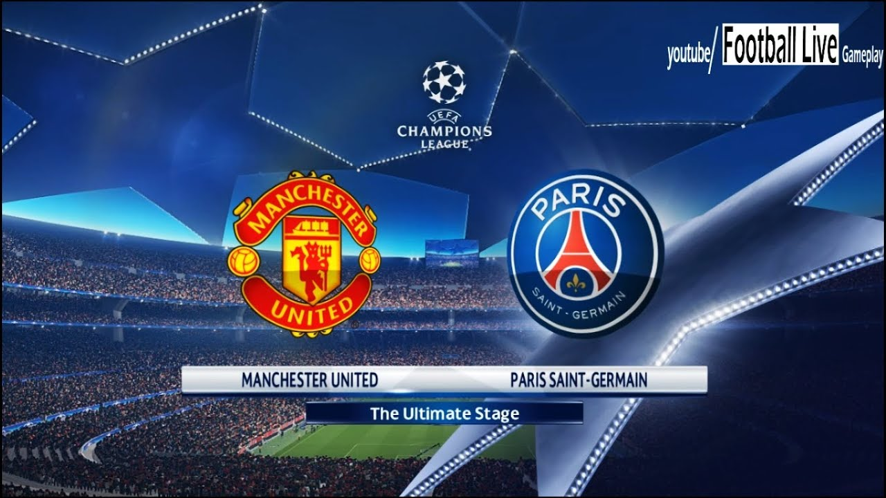 Pes 2018 Manchester United Vs Psg Uefa Champions League Ucl Gameplay Pc Youtube