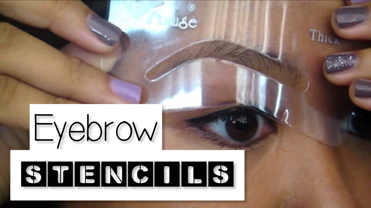 How To Use Eyebrow Stencils Youtube