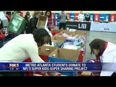 Metro Atlanta students donate to NFL's super kids super sharing project