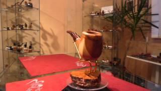 Brand New Red Juniper Wood Pipe Paronelli Half Bent Panel Handmade -  Ebay Item Number: 181680230184