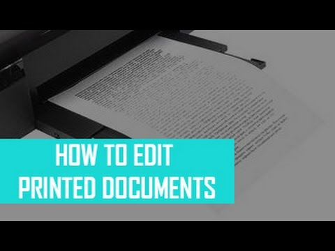 How to edit the printed document templates?