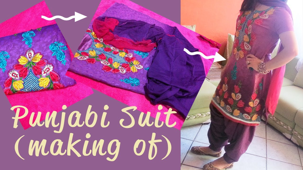 Making My Punjabi Suit Youtube