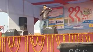 Sandip chetri at chitwan mahotsab 2073.