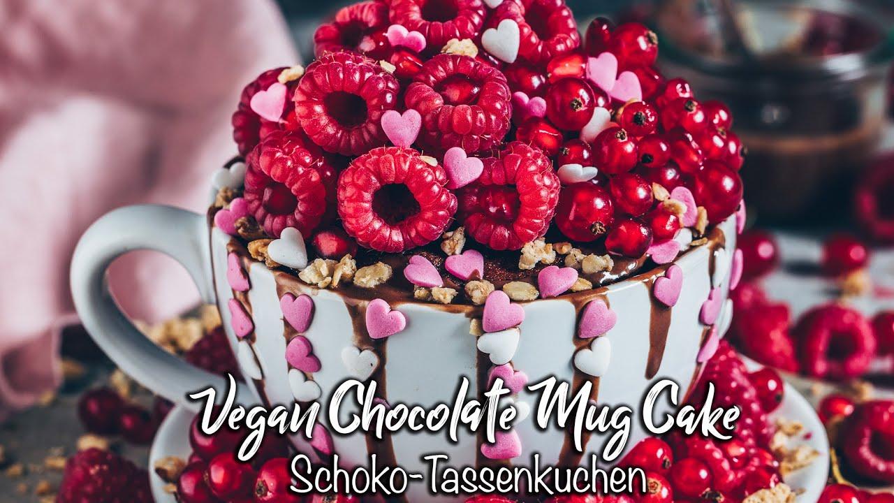 Veganer Schoko Tassenkuchen ♡ Der BESTE Mug Cake ♡ Schnell & einfach!