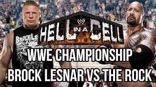WWE 2k14 Universe Mode - The Rock vs Brock Lesnar - WWE Championship - Hell In A Cell Promo