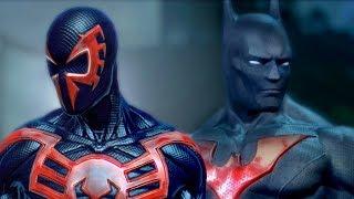 Человек паук 2099 против бэтмена будущего