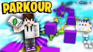 PARKOUR CHALLENGE FOR 5 MILLION DOLLARS Minecraft Skyblock