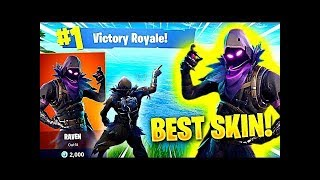 SOLO WIN W/ NEW RAVEN SKIN - FORTNITE (No Commentary)