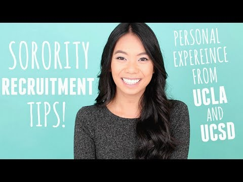 Sorority Recruitment Tips Based On My UCLA & UCSD Rush Experience!