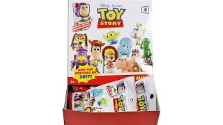 Disney Pixar Toy Story Minis Series 4 Blind Bags Unboxing Toy Review Full Set with Codes