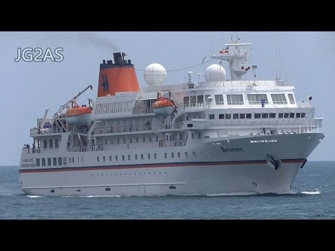 M/S BREMEN ブレーメン クルーズ客船 境港 HAPAG-LLOYD Cruise ship 2017-MAY
