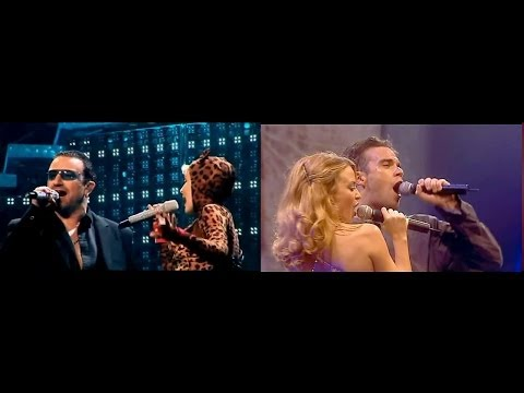 Kylie Minogue, Bono, Robbie Williams - Kids (LaLCS, by DcsabaS, 2006, 2001)