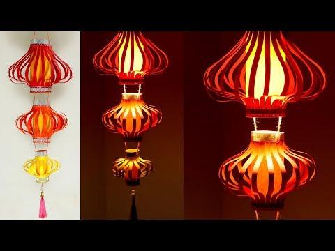 दिपावली डेकोरेशन २०१९ - Diwali lamp decoration with paper 3 | Diwali decoration lantern ideas