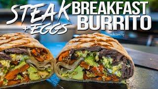 Steak and Eggs Breakfast Burrito | SAM THE COOKING GUY 4K