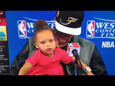 Riley Curry: I'm way up, I feel blessed (Big Sean's song)