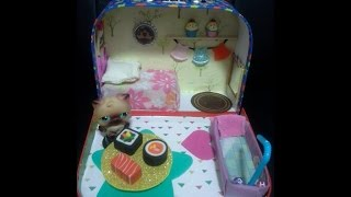 Vintage Littlest Pet Shop Diy Portable Dollhouse: Tour & Tutorial For Handmade Miniature Furniture