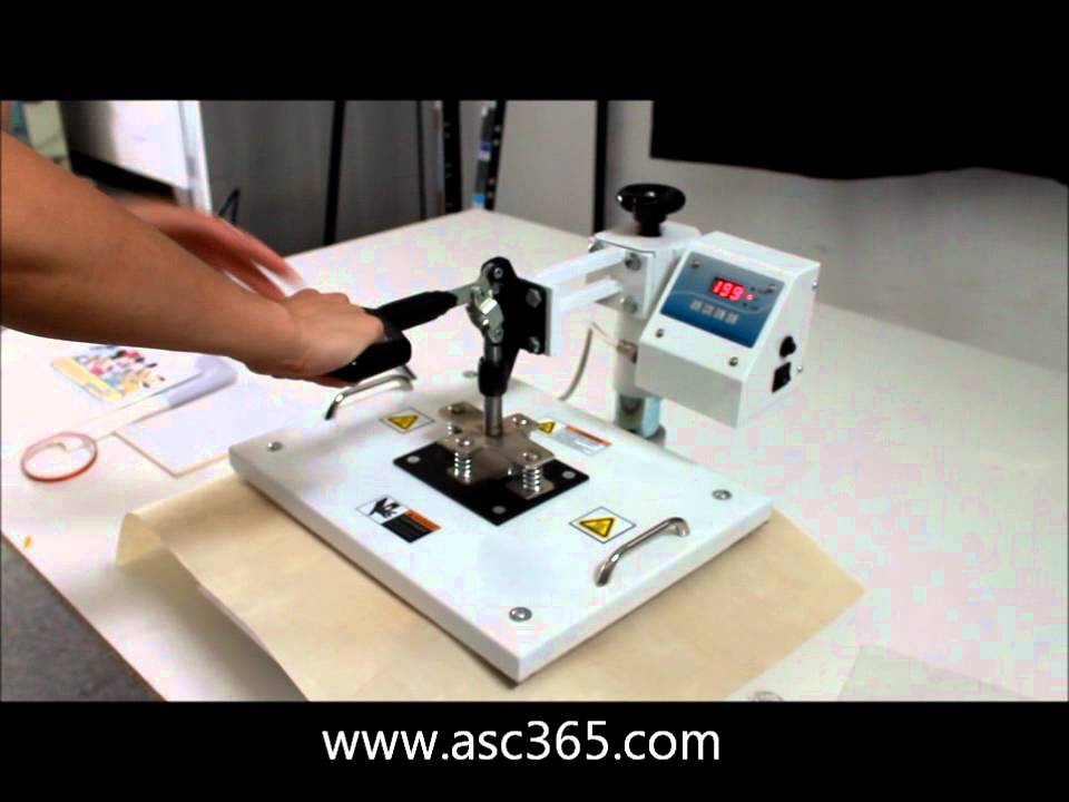 Sulimation Ink Transfer To Ceramic Tiles By Heat Press