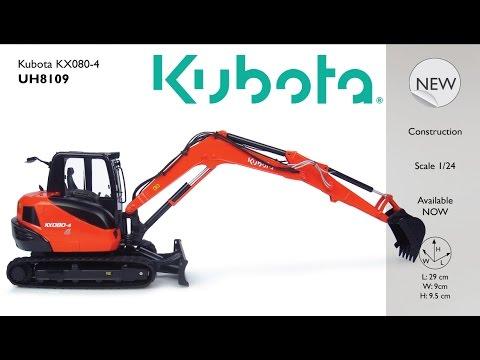 Universal Hobbies 1//24 Kubota KX080-4a2 Compact Excavator Diecast Model 8151