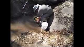 Digging for sapphires at Down the Hill Yarrow Creek, near Glen Innes NSW Australia (2)