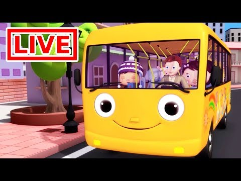 Little Ba Bum   🔴 Wheels On The Bus  Nursery Rhymes for Kids  ABC Songs  Stream