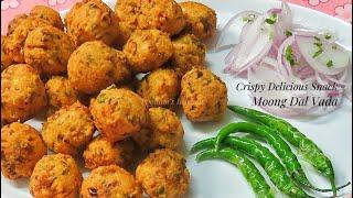 Crispy Perfect Moong Dal Vada Recipe/ Monsoon Special Vada Recipe - Moong Dal Bhajiya/ Pakora