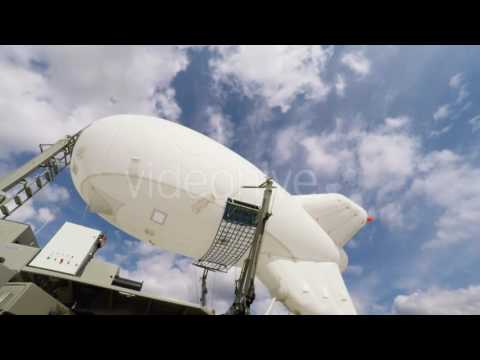 Easy Airship At Mooring Mast - Stock Footage | VideoHive 14377093