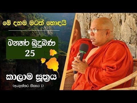 25 (01) | කාලාම සූත්රයේ සැබෑ පණිවිඩය | Kiribathgoda Gnanananda Thero | Kalama Sutta