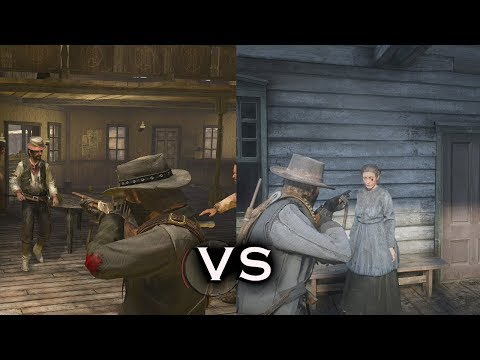 RDR VS RDR 2: Animations - Physics - Combat & Gameplay Comparison