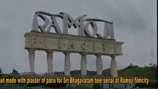 A set made with plaster of paris for Sri Bhagavatam tele serial at Ramoji film city