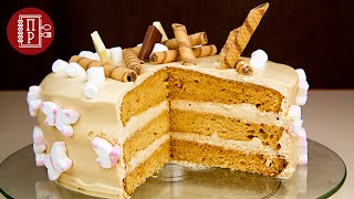 Бисквитный Карамельный Торт на Новогодний Стол