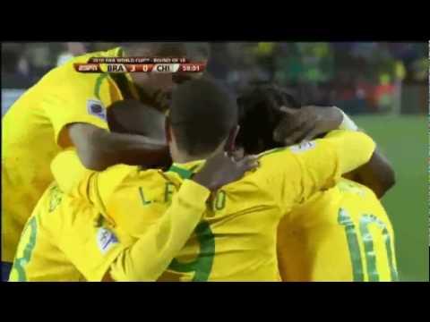 Brazil 3 - 0 Chile FIFA World Cup 2010