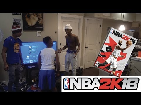 I BROKE MY LIL BROTHER 2K18 GAME!!