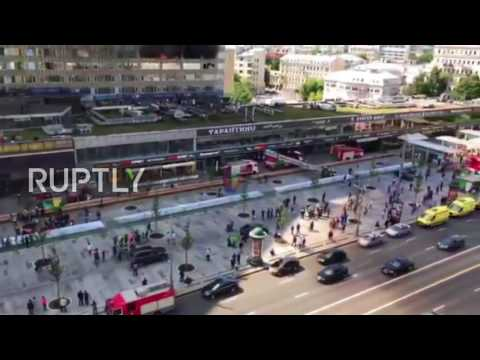 Russia: Smoke billows from Moscow