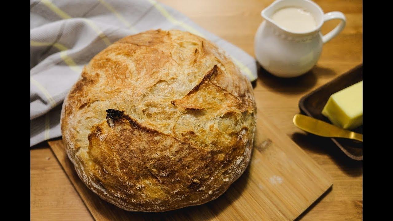 Pão italiano artesanal sem sovar