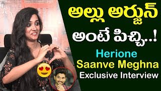 అల్లు అర్జున్ అంటే పిచ్చి|Bilalpur Police Station Movie Herione Saanve Meghna Interview|Film Jalsa