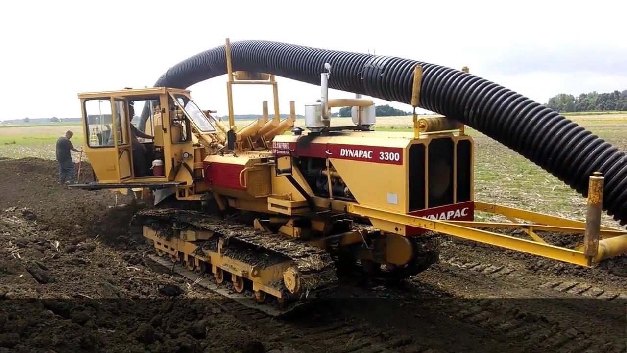 Crawford Drainage Chain Machine Tile Installation Youtube
