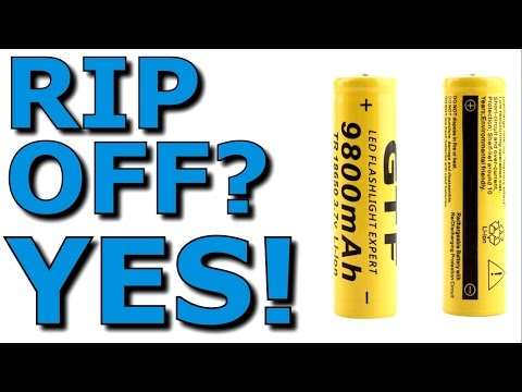 18650 9800 mAh Chinese Cells/Batteries Thorough Review Yes, They Are A Rip Off GTF/GIF