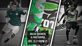 Dallas Sidekicks vs El Paso Coyotes