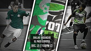 Dallas Sidekicks vs El Paso Coyotes