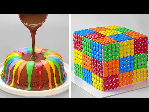 Delicious Rainbow Chocolate Cake Decorating Tutorial | So Yummy Cake Decorating Recipes