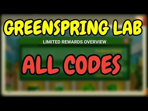 Greenspring Lab L ALL CODES I Castle Clash